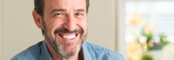 Man sharing healthy smile after periodontal therapy